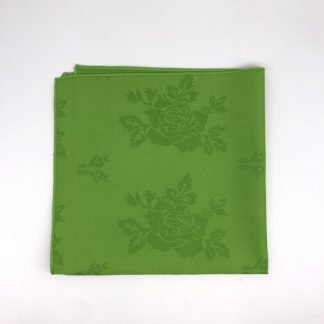 Apple Green Napkin With Rose Pattern