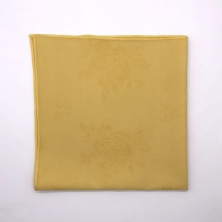 Gold Coloured Linen Napkin With Rose Pattern