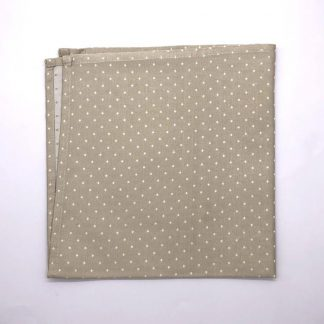 Gold Colourd Linen Napking With Star Pattern