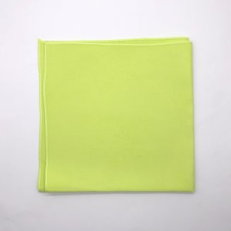 Lime Coloured Linen Napkin With Rose Pattern