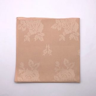 Peach Coloured Linen Napkin With Rose Pattern