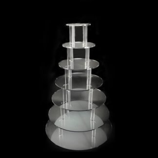 7 Tier Round Mirrored Cup Cake Stand