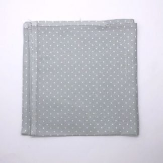 Silver Colourd Linen Napking With Star Pattern